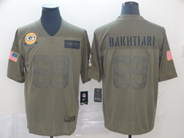 Mens Nfl Green Bay Packers #69 David Bakhtiari Green 2019 Salute To Service Limited Jersey