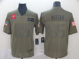 Mens Women Nfl San Francisco 49ers #85 George Kittle Green 2019 Salute To Service Limited Jersey
