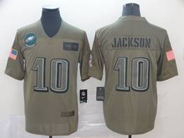 Mens Nfl Philadelphia Eagles #10 Desean Jackson Green 2019 Salute To Service Limited Jersey