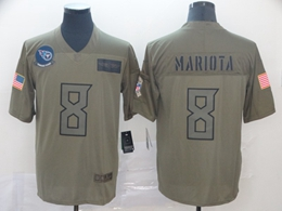 Mens Nfl Tennessee Titans #8 Marcus Mariota Green 2019 Salute To Service Limited Jersey