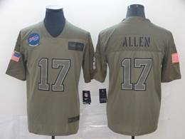 Mens Nfl Buffalo Bills #17 Josh Allen Green 2019 Salute To Service Limited Jersey