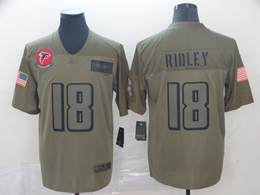 Mens Nfl Atlanta Falcons #18 Calvin Ridley Green 2019 Salute To Service Limited Jersey