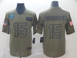 Mens Nfl Jacksonville Jaguars #15 Gardner Minshew Ii Green 2019 Salute To Service Limited Jersey