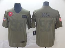 Mens Women Nfl San Francisco 49ers #97 Nick Bosa Green 2019 Salute To Service Limited Jersey