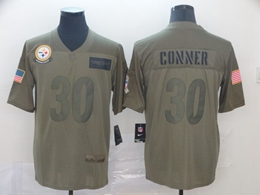 Mens Nfl Pittsburgh Steelers #30 James Conner Green 2019 Salute To Service Limited Jersey