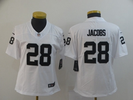 Women Nfl Oakland Raiders #28 Josh Jacobs White Vapor Untouchable Limited Player Jersey