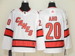 Mens Nhl Carolina Hurricanes #20 Sebastian Aho White Away Breakaway Player Jersey