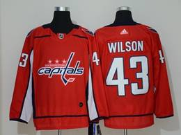 Mens Nhl Washington Capitals #43 Tom Wilson Red Breakaway Player Adidas Jersey