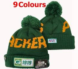 Mens Nfl Green Bay Packers 100th New Sport Knit Hats 9 Colors