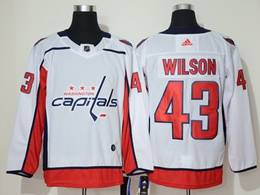 Mens Nhl Washington Capitals #43 Tom Wilson White Adidas Jersey