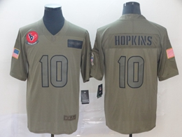 Mens Nfl Houston Texans #10 Deandre Hopkins Green 2019 Salute To Service Limited Jersey