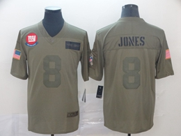Mens Nfl New York Giants #8 Daniel Jones Green 2019 Salute To Service Limited Jersey