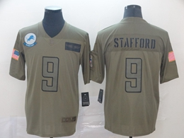 Mens Nfl Detroit Lions #9 Matthew Stafford Green 2019 Salute To Service Limited Jersey