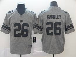 Mens Nfl New York Giants #26 Saquon Barkley Gray Vapor Untouchable Limited Jersey