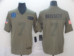 Mens Nfl Indianapolis Colts #7 Jacoby Brissett Green 2019 Salute To Service Limited Jersey