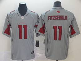 Mens Nfl Arizona Cardinals #11 Larry Fitzgerald Gray Nike Inverted Legend Vapor Untouchable Limited Jersey