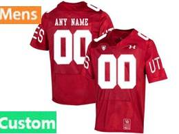 Mens 2019 Ncaa Nfl Utah Utes Custom Made Red 150th Limited Jersey