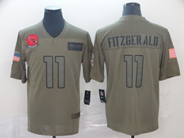 Mens Women Nfl Arizona Cardinals #11 Larry Fitzgerald Green 2019 Salute To Service Limited Jersey