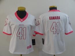 Women New Orleans Saints #41 Alvin Kamara White Vapor Untouchable Limited Player Jersey