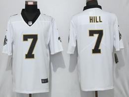 Mens Nfl New Orleans Saints #7 Taysom Hill White Vapor Untouchable Limited Player Jersey