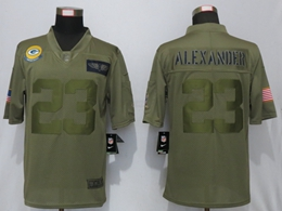 Mens 2019 Nfl Green Bay Packers #23 Jaire Alexander Green Salute To Service Limited Jersey