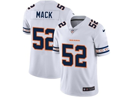 Mens Nfl Chicago Bears #52 Khalil Mack White Team Logo Cool Edition Vapor Untouchable Limited Jerseys