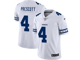 Mens Nfl Dallas Cowboys #4 Dak Prescott White Team Logo Cool Edition Vapor Untouchable Limited Jerseys