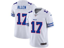 Mens Nfl Buffalo Bills #17 Josh Allen White Team Logo Cool Edition Vapor Untouchable Limited Jerseys