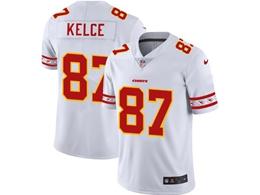 Mens Nfl Kansas City Chiefs #87 Travis Kelce White Team Logo Cool Edition Vapor Untouchable Limited Jerseys