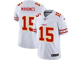 Mens Kansas City Chiefs #15 Patrick Mahomes White Team Logo Cool Edition Vapor Untouchable Limited Jerseys