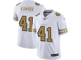 Mens Nfl New Orleans Saints #41 Alvin Kamara White Team Logo Cool Edition Vapor Untouchable Limited Jerseys