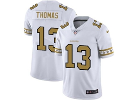 Mens Nfl New Orleans Saints #13 Michael Thomas White Team Logo Cool Edition Vapor Untouchable Limited Jerseys