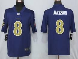Mens Women Youth Nfl Baltimore Ravens #8 Lamar Jackson Purple Color Rush Vapor Untouchable Limited Jersey