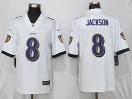 Mens Women Youth Nfl Baltimore Ravens #8 Lamar Jackson White Vapor Untouchable Limited Jersey
