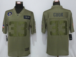 Mens Nfl Minnesota Vikings #33 Dalvin Cook Green 2019 Salute To Service Limited Jersey