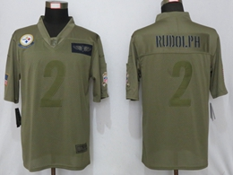 Mens Nfl Pittsburgh Steelers #2 Mason Rudolph Green 2019 Salute To Service Limited Jersey