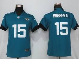 Women Nfl Jacksonville Jaguars #15 Gardner Minshew Ii Green Vapor Untouchable Limited Jersey