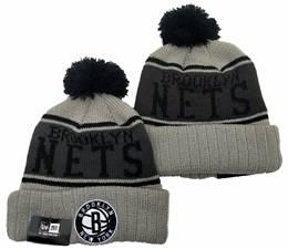 Mens Nba Brooklyn Nets Gray New Sport Knit Hats One Color