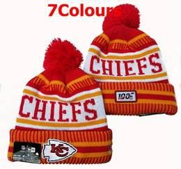 Mens Nfl Kansas City Chiefs 100th New Sport Knit Hats 7 Colors