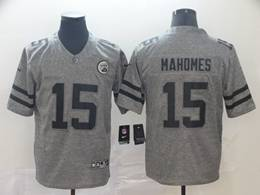 Mens Kansas City Chiefs #15 Patrick Mahomes Gray Vapor Untouchable Limited Jersey