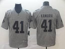 Mens Nfl New Orleans Saints #41 Alvin Kamara Gray Vapor Untouchable Limited Jerseys