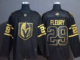 Mens Nhl Vegas Golden Knights #29 Marc-andre Fleury Black Golden Adidas Jersey