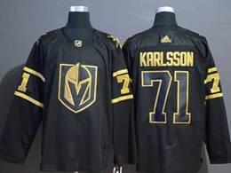 Mens Nhl Vegas Golden Knights #71 William Karlsso Black Golden Adidas Jersey