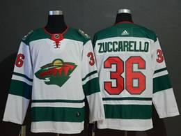 Mens Nhl Minnesota Wild #36 Zuccarello White Adidas Player Jersey