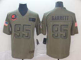 Mens Nfl Cleveland Browns #95 Myles Garrett Green 2019 Salute To Service Limited Jersey