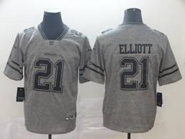 Mens Nfl Dallas Cowboys #21 Ezekiel Elliott Gray Vapor Untouchable Limited Jerseys