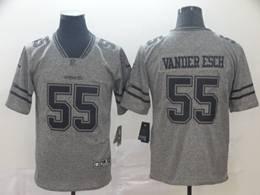 Mens Nfl Dallas Cowboys #55 Leighton Vander Esch Gray Vapor Untouchable Limited Jerseys
