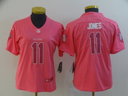 Women Atlanta Falcons #11 Julio Jones Fashion Pink Vapor Untouchable Limited Player Jersey