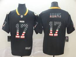 Mens Nfl Green Bay Packers #17 Davante Adams Usa Flag Fashion Black Vapor Untouchable Limited Jersey