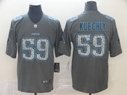 Mens Nfl Carolina Panthers #59 Luke Kuechly Pro Line Gray Fashion Static Vapor Untouchable Limited Jersey